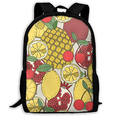 LoveBea Backpack Set of Fruit Patterns Mens School Backpacks Daypack Fabulous Gift