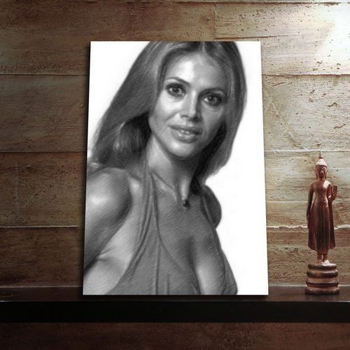 Wicker Island Man (Seasons Britt EKLAND - Original Art Print (Large A3 - Signed The Artist) #js004)