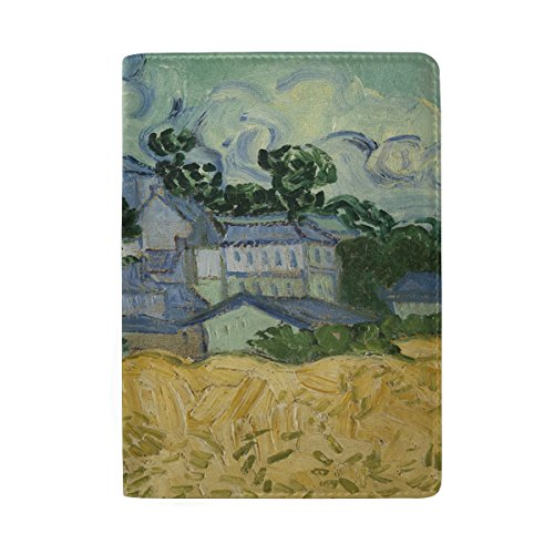 Blue Viper Van Gogh Painting View Of Auvers With Church Pattern Personalized Leather Passport Holder Cover Case Travel Wallet by Hokkien