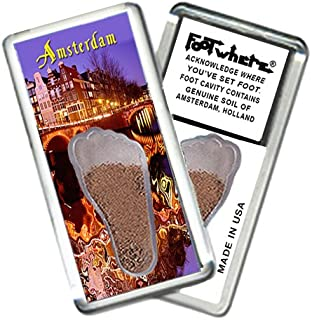 "product image for Amsterdam ""FootWhere"" Souvenir Fridge Magnet (AM202 - Twilight)"