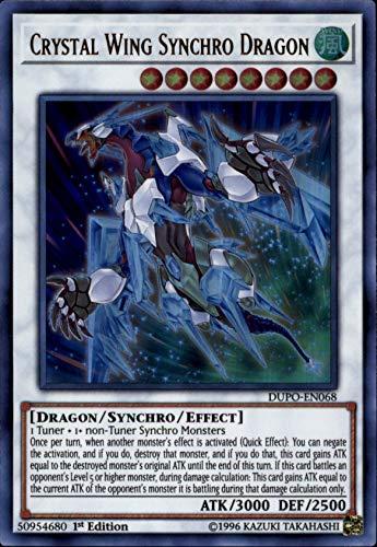 Yu-Gi-Oh! - Crystal Wing Synchro Dragon - DUPO-EN068 - Ultra Rare - 1st Edition - Duel Power ()