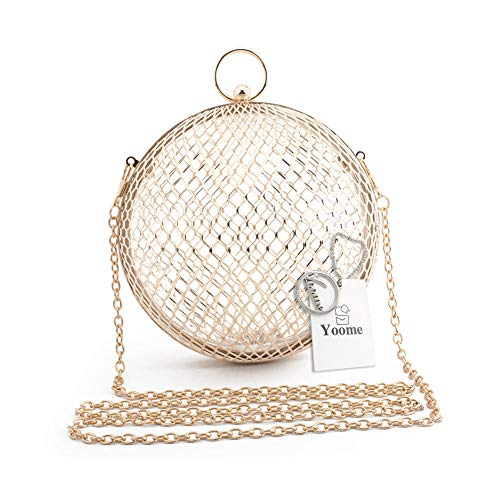 Yoome YooHY117-Gold with Handle, Pochette pour Femme Beige Gold with Handle One_Size dor