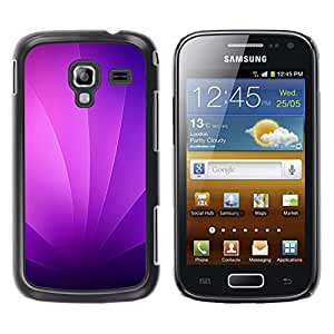 TaiTech / Prima Delgada SLIM Casa Carcasa Funda Case Bandera Cover Armor Shell PC / Aliminium - Remolinos púrpuras - Samsung Galaxy Ace 2