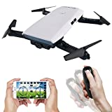 EACHINE Drone With Camera Live Video, E56 WIFI FPV Quadcopter With 2.0MP 720P HD Camera Gravity Sensor Mode Altitude Hold RC Foldable Selfie Pocket Drone APP Control RTF