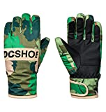 DC Big Boys' Franchise Youth Snow Glove, Chive Leaf Camo Youth, M
