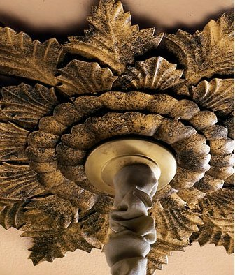 Large Old World Acanthus Leaf Ceiling Medallion by Intelligent Design