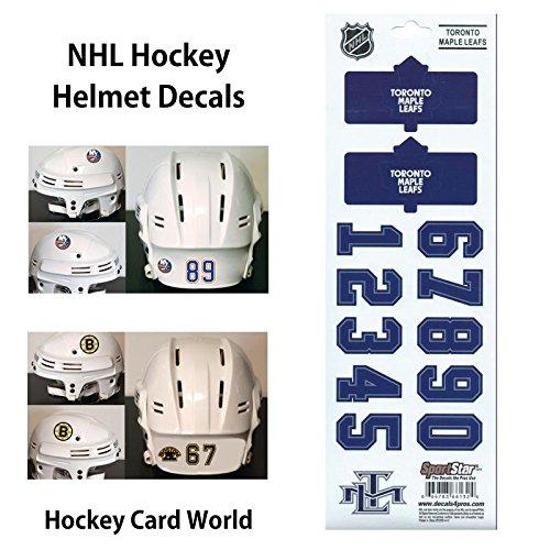 ((HCW) Toronto Maple Leafs (old) SportsStar NHL Hockey Helmet Decals Sticker)