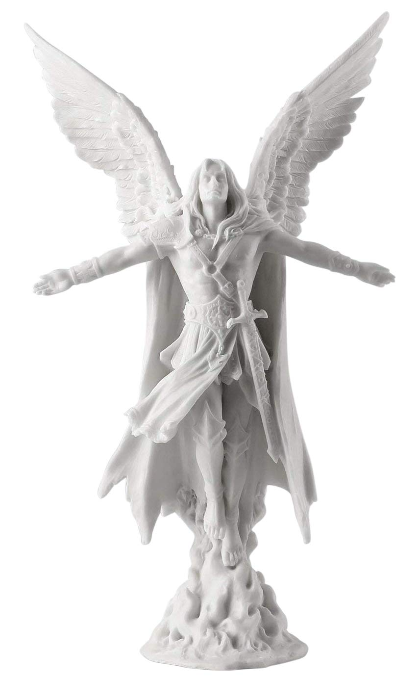 Ascending Angel Statue Sculpture 11 Tall White