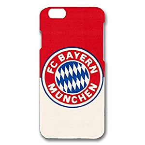 3D Simple Style Football Club With Four Stars And Black Hard Plastic Phone Case For Iphone 6 Bayern Munchen Football Club Logo Print Design For Students