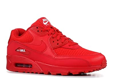 official photos b9449 2bfcf Nike Air Max 90 Essential, Chaussures d Athlétisme Homme, Rouge (University  Red