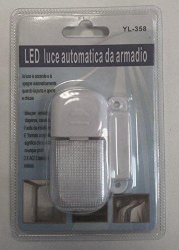 LUCE LED AUTOMATICA DA ARMADIO CASSETTI DISPENSE: Amazon.it: Casa e ...