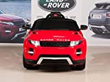 BIG TOYS DIRECT Range Rover Evoque 12V Powered Wheels Ride On Car w/ Remote Control, Mat & Keychain, Red