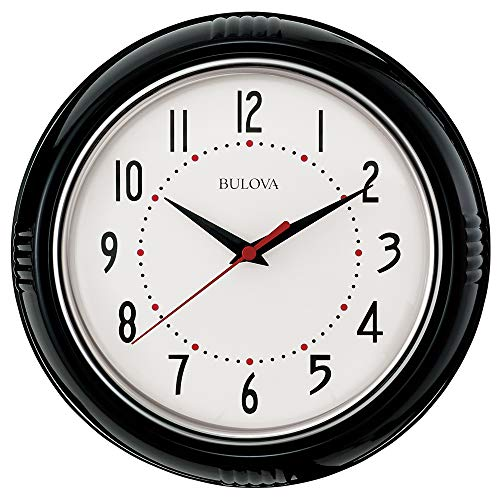 Kitchen Plus Wall Clock, Black - Bulova C4856