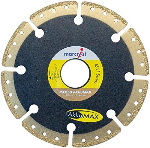 115 mm//22.23 mm MARCRIST Diamond blade Diamond cutting disc MC850 AkkuMAX dia