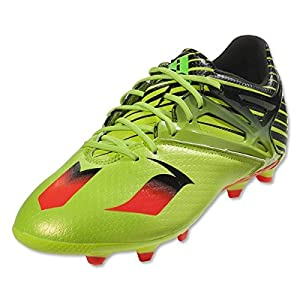 Adidas Soccer Cleats Size 4.5 - Messi 15.1 J, Slime/Red/Black