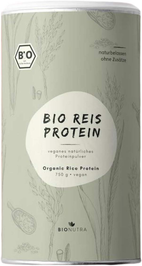 BIONUTRA® Proteína de arroz ecológica 750 g, 82% de contenido ...