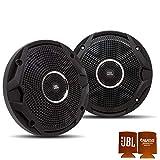 JBL MS65010BK OEM Replacement Speakers - 1 Pair of Marine 6.5 Inch Dual Cone Speakers - Black