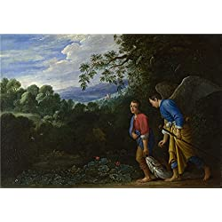 The High Quality Polyster Canvas Of Oil Painting 'After Adam Elsheimer Tobias And The Archangel Raphael ' ,size: 20 X 29 Inch / 51 X 73 Cm ,this Beautiful Art Decorative Prints On Canvas Is Fit For Living Room Gallery Art And Home Gallery Art And Gifts