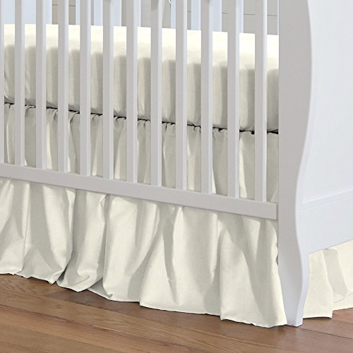 (Carousel Designs Solid Ivory Crib Skirt Gathered 20-Inch Length)