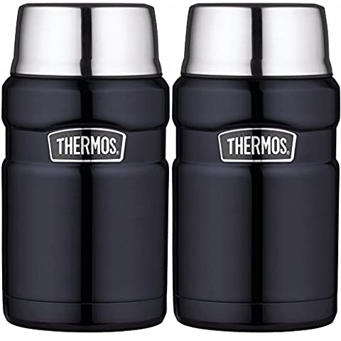 Thermos Stainless King Vacuum Insulated 24 oz. Food Jar Midnight Blue - 2PK (Stainless King Ounce Food Jar)