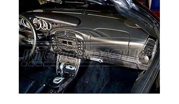Porsche 911 996 Turbo interior Real de fibra de carbono Dash trim Kit Set 1998 1999 2000 2001: Amazon.es: Coche y moto