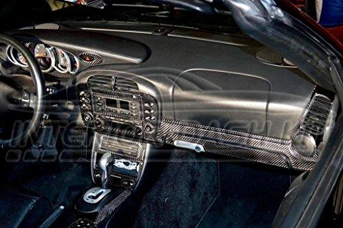 PORSCHE BOXSTER 996 TURBO INTERIOR REAL CARBON FIBER DASH TRIM KIT SET 1998 1999 2000 2001 (Real Carbon Fiber Dash Trim)