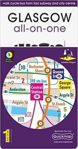 Subway Map 6 Train.Glasgow All On One Map Walk Cycle Bus Train Taxi Subway And City