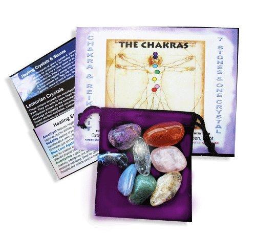 Chakra Kit 7 Stones & a Crystal Healing & Meditation