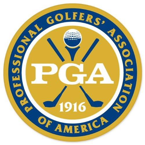 "Ride in Style PGA Golf car Bumper Sticker Window Decal 4"" x 4"""