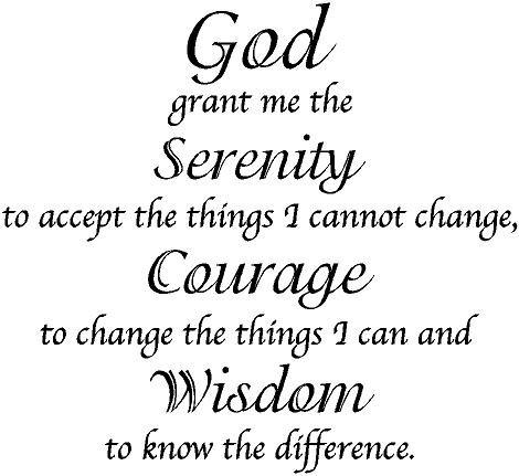 God Grant Me Serenity, Courage, Wisdom Vinyl Wall Art Decal