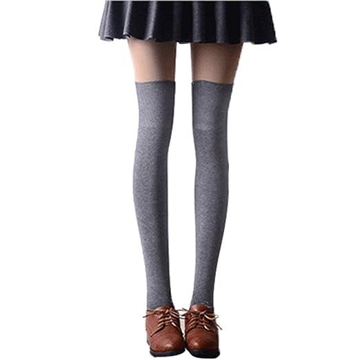 2bb2fbffa Tinksky Over Knee Socks Women Girls Thigh High Stockings Long Socks ...