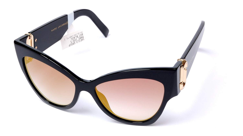 Marc Jacobs Women's Marc109s Cateye Sunglasses, Black/Gray SF Gold SP, 54 mm