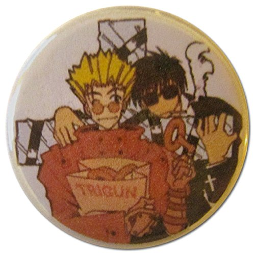 Baubles of Time Men's Vash & Wolfwood Pin Back Button 1.25 Inch Multicoloured