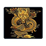 Painting Chinese Golden Dragon Office Rectangle Non-Slip Rubber Mouse Pad Comfortable Gaming Mouse Pad for Laptop Displays Tablet Keyboard