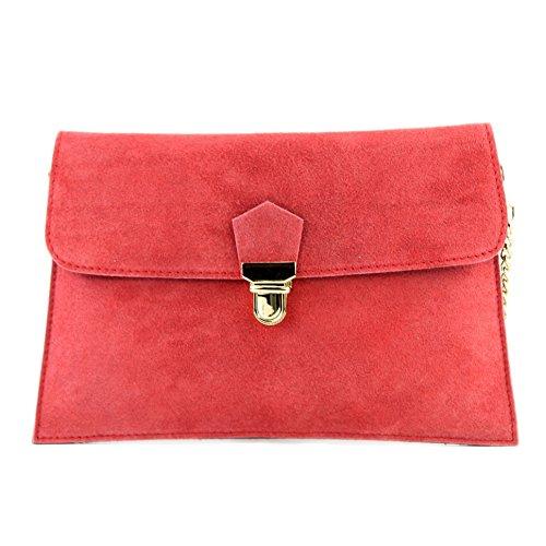 bolsa Ciudad de de noche bolsa modamoda Lachsrot T206 de de embrague embrague bolsa gamuza ital bolsa AawxHqvnw1