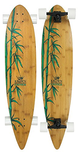 - Krown Krex 2 Bamboo Pintail Complete Longboard, 9x43-Inch