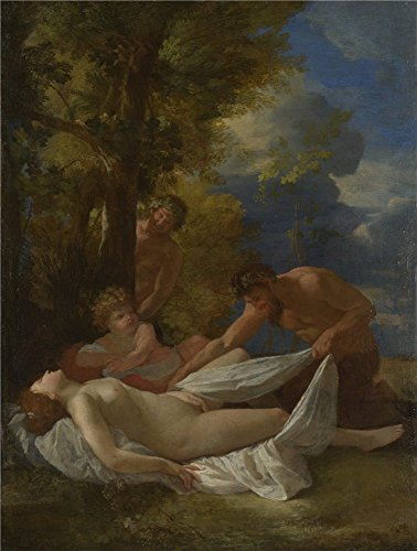'Nicolas Poussin Nymph With Satyrs ' Oil Painting, 30 X 40 Inch / 76 X 101 Cm ,printed On Polyster Canvas ,this Cheap But High Quality Art Decorative Art Decorative Prints On Canvas Is Perfectly Suitalbe For Hallway Gallery Art And Home Gallery Art And Gifts - State Fair Bingo Shutter Cards