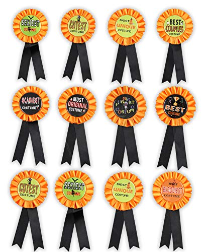 Halloween Party Contest (Halloween Costume Award Ribbons Decorations Pins - Party Contest Trick or Treat Prize Buttons Supplies)