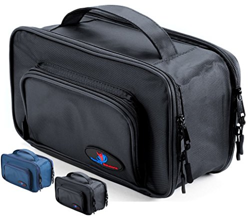 Mens Travel Toiletry Bag for Men | Travel Case for Toiletries Bag by Ramaka Solutions | Dopp Kit Travel Bags for Toiletries | Stain Proof Nylon Toiletry Bag for Women (10.5 X 5 X 5.5 Inches) Black