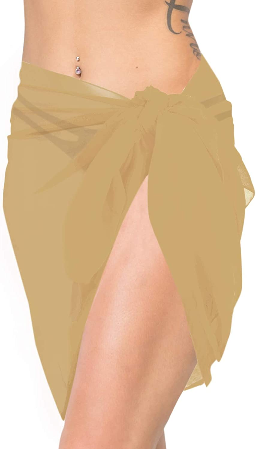 LA LEELA Shawls Scarves Scarf Womens Sarong Skirt for The Beach Cover Ups Wrap 80x21 Beige/_K323