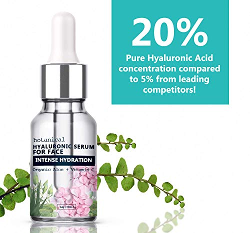 51%2Bo%2B1Rm7UL - Hyaluronic Acid Serum for Face, Repairs Damaged Skin, All Natural with Vitamin C, E, Jojoba Oil, Witch Hazel. (Anti Aging Formula)