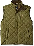 U.S. Polo Assn. Men's Lightweight Puffer Vest, Army Green-Ghmh, M