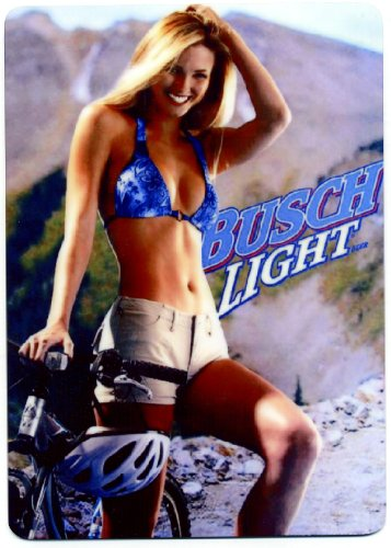 busch-light-sexy-mountain-bike-metal-beer-counter-display