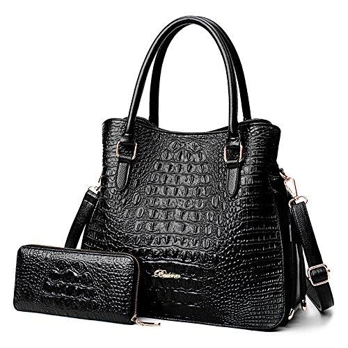 Del Bag Donne Modello Coreana Moda Di Nera Casuale Spalla Messenger Sacchetto Coccodrillo aCqxwYdwz