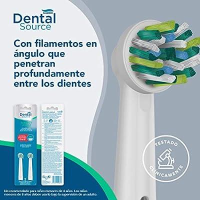 Dental Source PERFECT ANGLE - Cabezales de recambio para Oral-B cepillo de dientes eléctrico - Fabricado en USA - Compatible con brackets o implantes dentales - Pack de 2: Amazon.es: Salud y cuidado personal