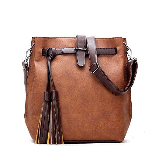 Women Bag Brown Bag Meaeo Bucket Pu Green Bag fWF44X0d