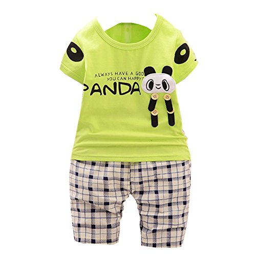 ftsucq-little-boys-cartoon-panda-shirt-top-with-checkered-middle-pants-two-pieces-setsgreen-110