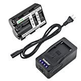 Kastar LED Super Fast Charger & Camcorder Battery x1 for Sony NP-FM500H DSLR-A100 A200 A300 A350 A450 A500 A550 A560 A580 A700 A850 A900 Alpha SLT A57 A58 A65 A65V A77 A77V A77 A77M2 A99 A99V CLM-V55