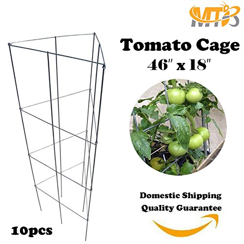 MTB Galvanized Triangular Folding Tomato Cage Plant Support Tower 18 ...