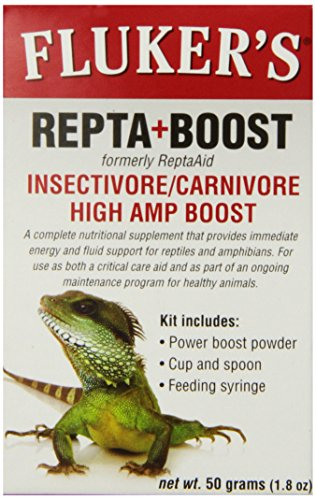 - Fluker Labs SFK73030 Insectivore/Carnivore High AMP Boost Reptile Supplement, 50gm